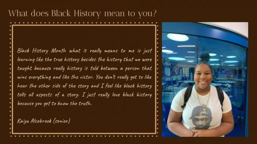 Rec Black Students BHM Multimedia Piece